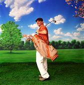 Golfer winking