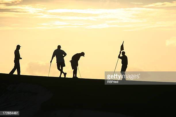 Golfers at Sunset 2