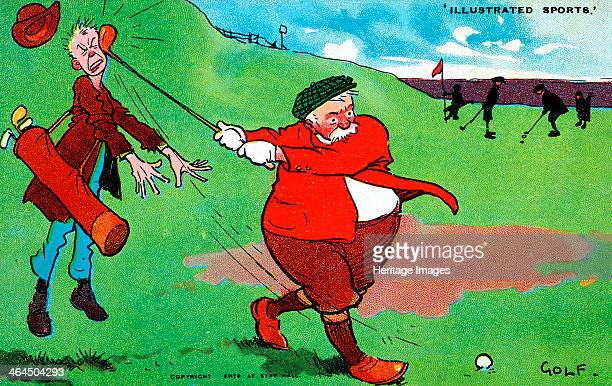 Golfing cartoon 'Illustrated Sports' c1920s