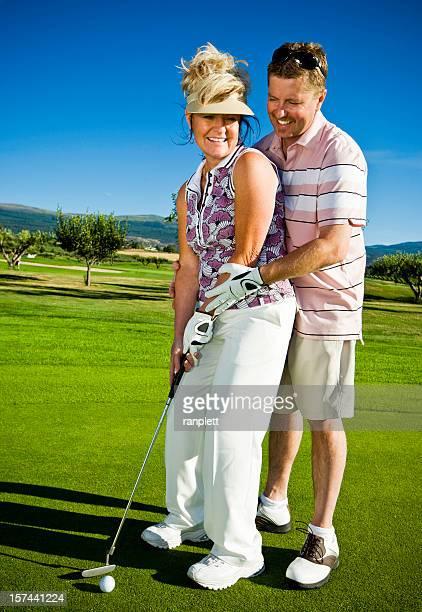 ゴルフィングのカップル