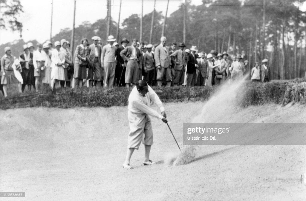 Golfspieler USAbei der offenen Meisterschaft von Deutschland auf dem Golfplatz Wannsee Berlin 1929veröffentlicht Dame 20/1929Foto Atelier Badekow