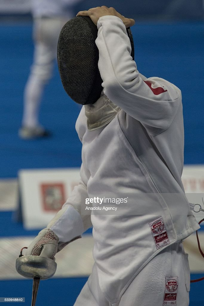 Golis Remigiusz (Poland) during the men's relay World Championship in modern pentathlon in Moscow in Olympic Sports Complex in Moscow, Russia, on May 24, 2016.