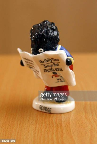 A golliwog figure from a museum display which has caused controversy for it's racist connotations