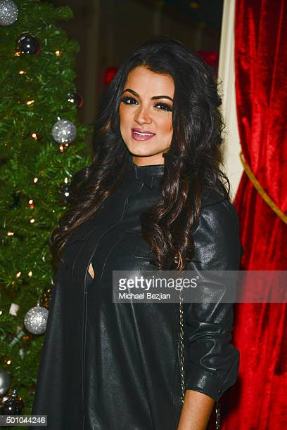 Golnesa arrives at 2015 Obsev Studios Holiday Party on December 11 2015 in Los Angeles California