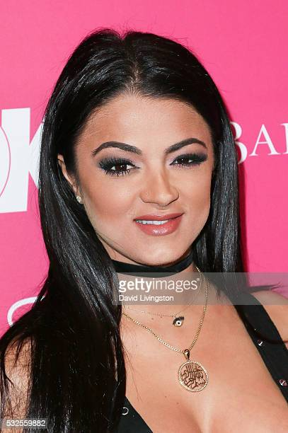 Golnesa 'GG' Gharachedaghi arrives at the OK Magazine's So Sexy LA at the Skybar at Mondrian on May 18 2016 in West Hollywood California