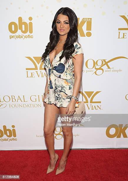 Golnesa 'GG' Gharachedaghi attends OK Magazine's PreOscar Party In Support Of Global Gift Foundation at Beso on February 25 2016 in Hollywood...