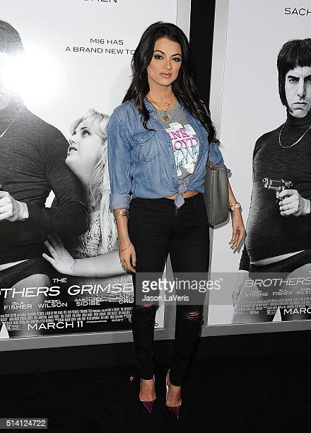 Golnesa 'GG' Gharachedaghi attends the premiere of 'The Brothers Grimsby' at Regency Village Theatre on March 3 2016 in Westwood California