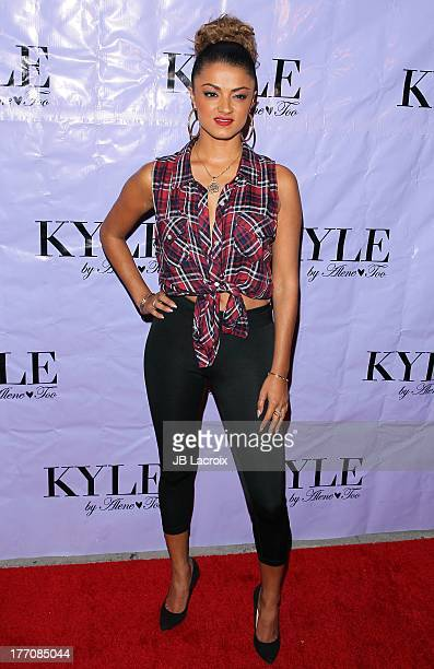 Golnesa Gharachedaghi attends the Have Faith Swimgerie by Lilly Ghalichi and Jennifer Stano David 2014 collection preview held at Kyle by Alene Too...