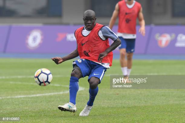 Golo Kante of Chelsea during a training session at the AOTI Stadium on July 20 2017 in Beijing China
