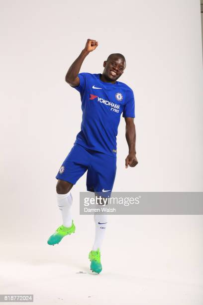 Golo Kante of Chelsea during the New Nike Kit Photoshoot at Chelsea Training Ground on April 19 2017 in Cobham England