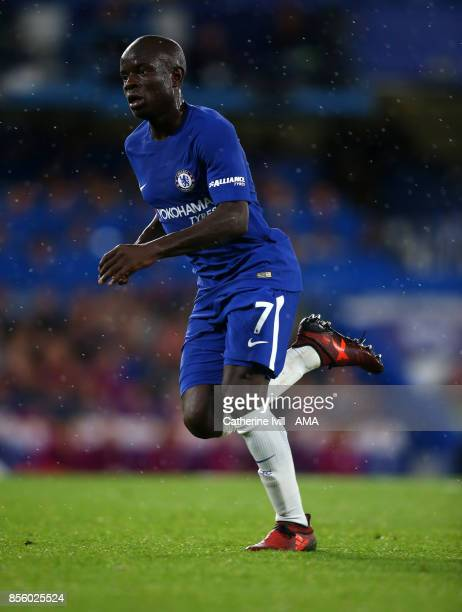 Golo Kante of Chelsea during the Premier League match between Chelsea and Manchester City at Stamford Bridge on September 30 2017 in London England