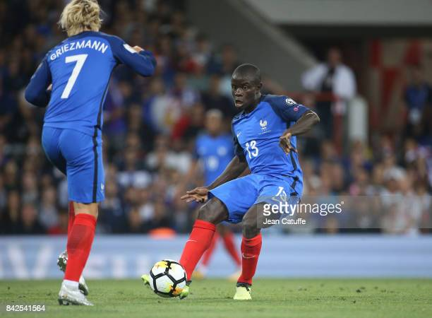 Golo Kante of France Antoine Griezmann of France during the FIFA 2018 World Cup Qualifier between France and Luxembourg at the Stadium on September 3...