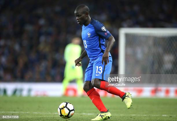 Golo Kante of France during the FIFA 2018 World Cup Qualifier between France and Luxembourg at the Stadium on September 3 2017 in Toulouse France