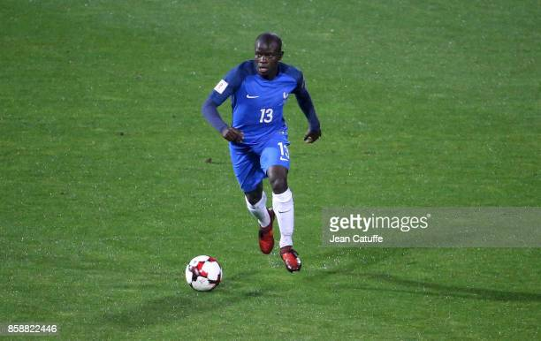 Golo Kante of France during the FIFA 2018 World Cup Qualifier between Bulgaria and France at Vasil Levski National Stadium on October 7 2017 in Sofia...