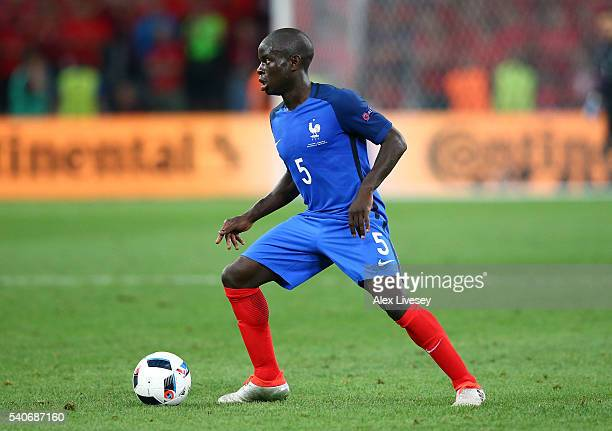 Golo Kante of France during the UEFA Euro 2016 Group A match between France and Albania at Stade Velodrome on June 15 2016 in Marseille France