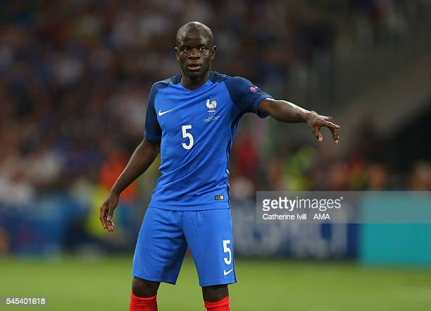Golo Kante of France during the UEFA Euro 2016 semi final match between Germany and France at Stade Velodrome on July 7 2016 in Marseille France