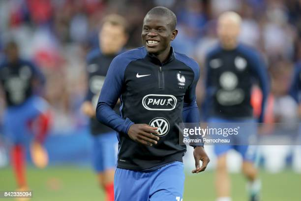 N'golo Kante of France looks on beofre the FIFA 2018 World Cup Qualifier between France and Luxembourg at Stadium on September 3 2017 in Toulouse...