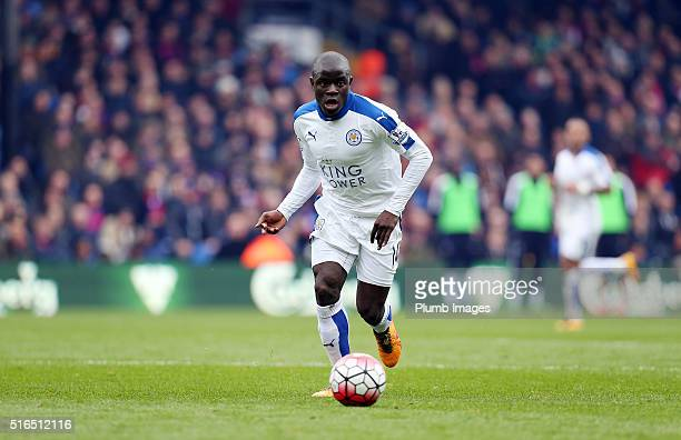 Golo Kante of Leicester City during the Premier League match between Crystal Palace and Leicester City at Selhurst Park on March 19 2016 in London...
