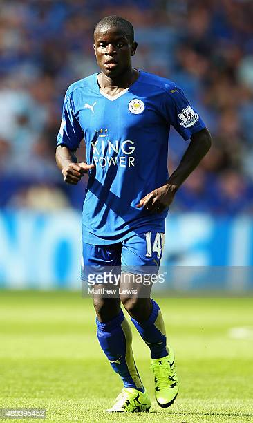 Golo Kante of Leicester City in action during the Barclays Premier League match between Leicester City and Sunderland at The King Power Stadium on...