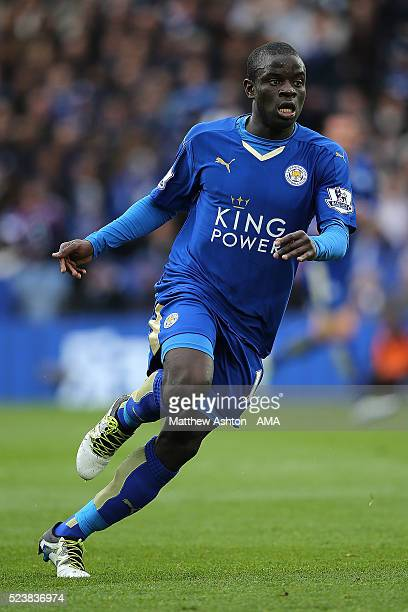 Golo Kante of Leicester City in action during the Barclays Premier League match between Leicester City and Swansea City at The King Power Stadium on...