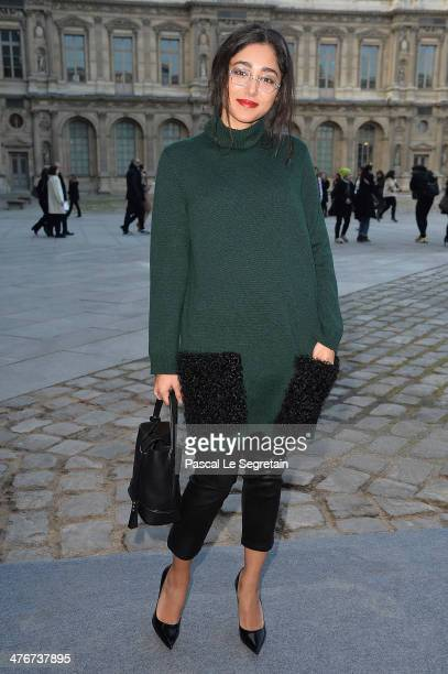 Golshifteh Farahani arrives at the Louis Vuitton show as part of the Paris Fashion Week Womenswear Fall/Winter 20142015 on March 5 2014 in Paris...
