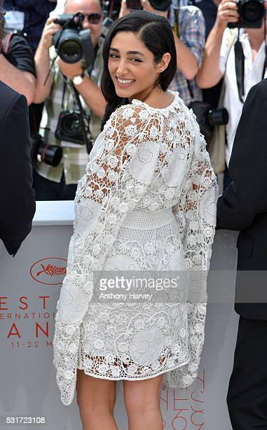 Golshifteh Farahani attends the 'Paterson' photocall during the 69th annual Cannes Film Festival at the Palais des Festivals on May 16 2016 in Cannes...