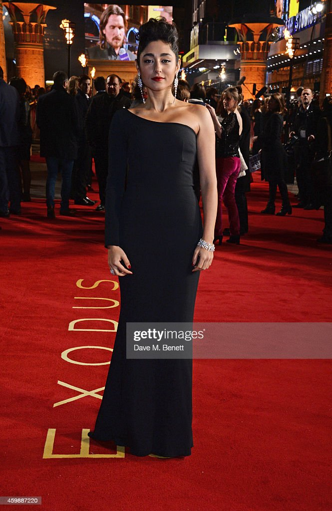<a gi-track='captionPersonalityLinkClicked' href=/galleries/search?phrase=Golshifteh+Farahani&family=editorial&specificpeople=5535488 ng-click='$event.stopPropagation()'>Golshifteh Farahani</a> attends the World Premiere of 'Exodus: Gods and Kings' at Odeon Leicester Square on December 3, 2014 in London, England.