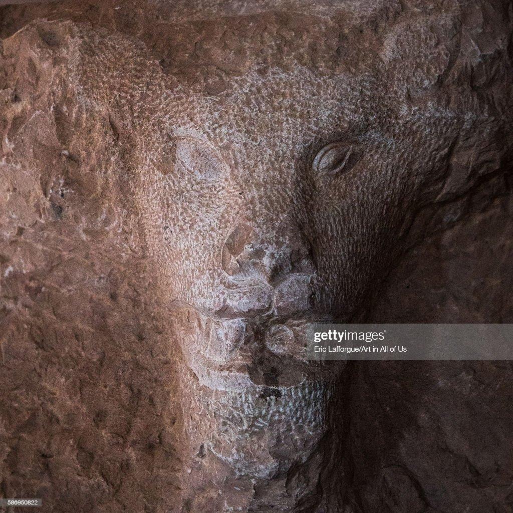 Gombabe jabaliye zoroastrian fire temple lion head central county kerman Iran on January 2 2016 in Kerman Iran