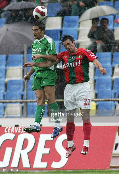 ZŽ Gomes and China during a Portuguese Premier League match between Maritimo and Naval in Funchal Portugal on April 7 2007