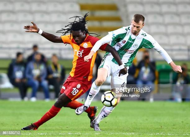 Gomis of Galatasaray action during the Turkish Super Lig soccer match between Atiker Konyaspor and Galatasaray at Konya Metropolitan Municipality...