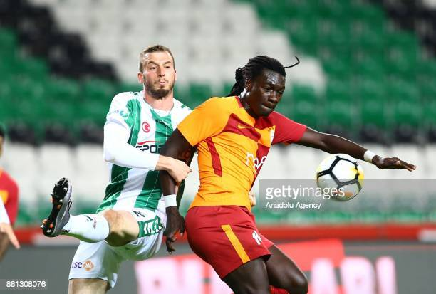Gomis of Galatasaray in action during the Turkish Super Lig soccer match between Atiker Konyaspor and Galatasaray at Konya Metropolitan Municipality...