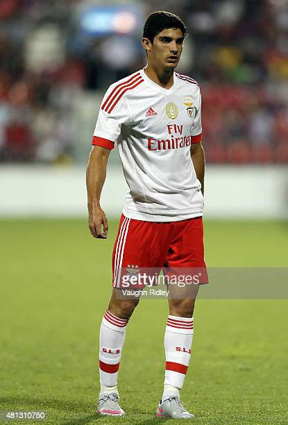 Goncalo Guedes of Benfica in action during the 2015 International Champions Cup match against Paris SaintGermain at BMO Field on July 18 2015 in...