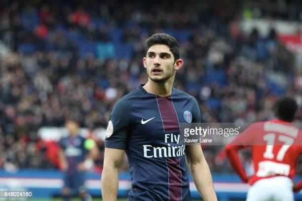 Goncalo Guedes of Paris SaintGermain during the French Ligue 1 match between Paris SaintGermain and AS NancyLorraine at Parc des Princes on March 4...