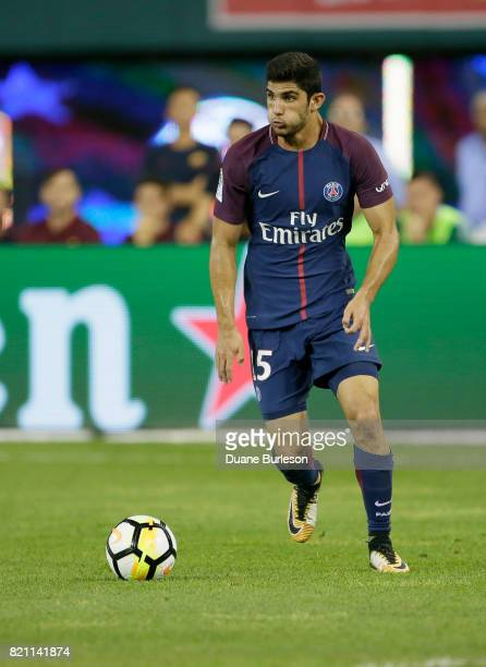 Goncalo Guedes of Paris SaintGermain during the second half of a match against AS Roma at Comerica Park on July 19 2017 in Detroit Michigan