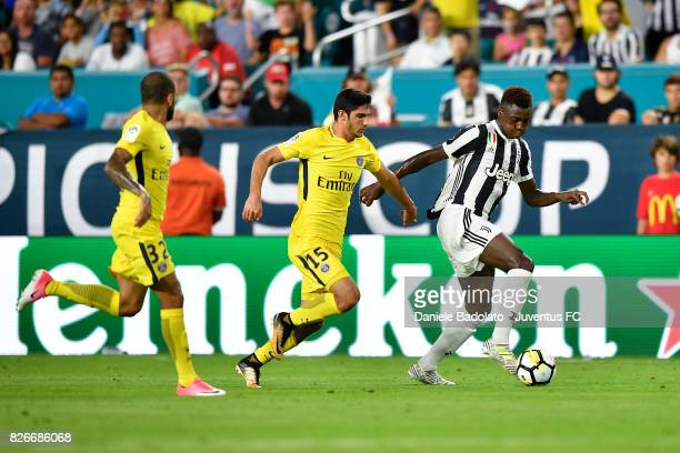 Goncalo Guedes of PSG and Moise Bioty Kean of Juventus in action during the International Champions Cup 2017 match between Paris Saint Germain and...