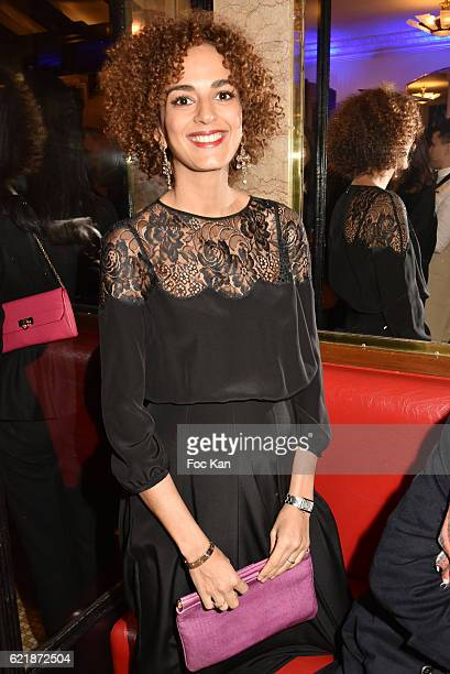 Goncourt 2016 awarded writer Leila Slimani attends the 'Prix De Flore 2016 ' Literary Prize Winner Announcement at Cafe de Flore on November 8 2015...