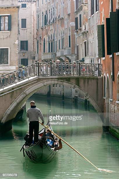 Gondola and old bridge in Venice (XXL)