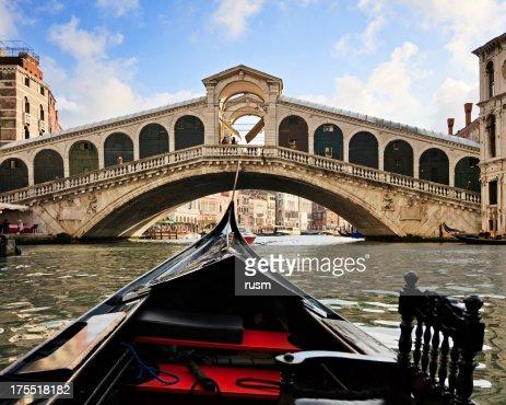 Gondola near Rialto Bridge, Venice, Italy