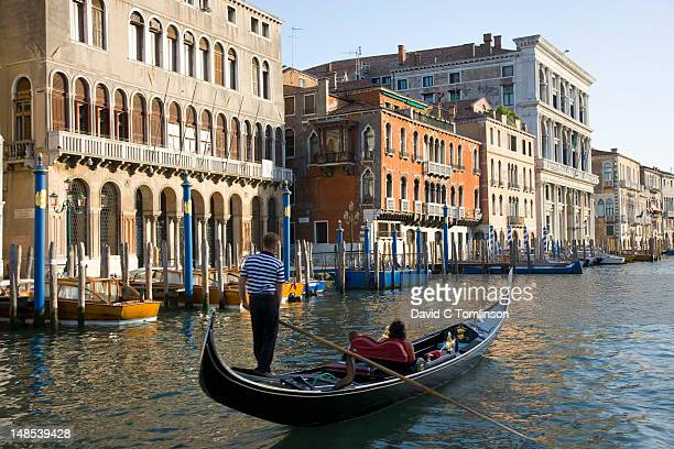Gondola on Grand Canal in San Marco district.