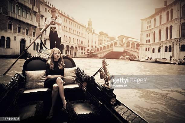 Gôndola no Grande Canal de Veneza