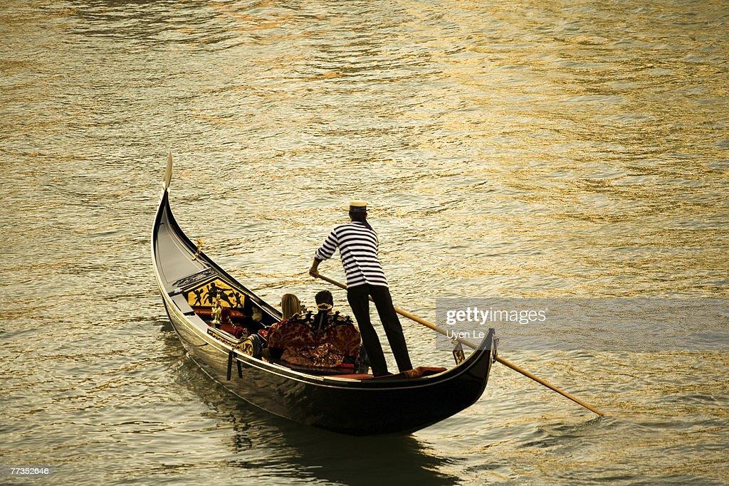 A gondola ride on the Grand Canal in Venice, Italy.  2006.