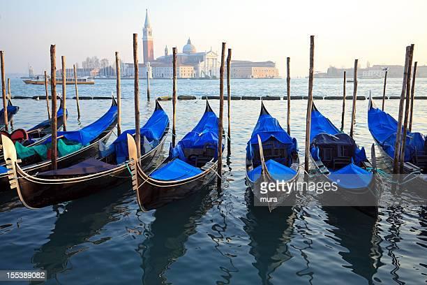 Gondolas at San Marco, Venice