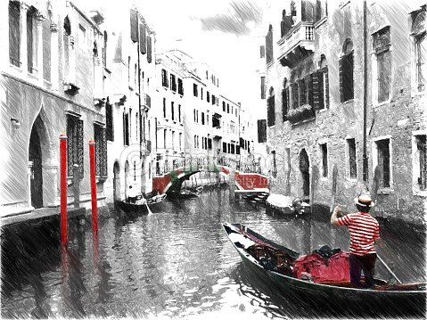 how to draw a gondolier