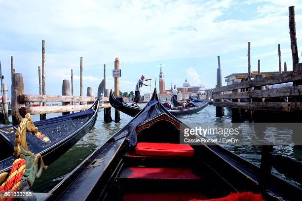 Gondolas On River