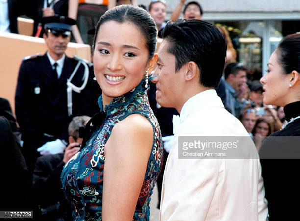 Gong Li and Andy Lau during 2004 Cannes Film Festival 2046 Premiere at Palais Du Festival in Cannes France