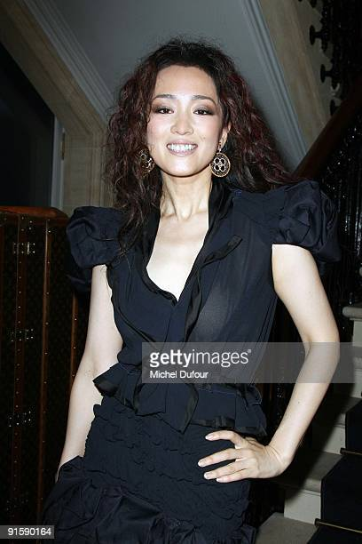 Gong Li attends the Louis Vuitton Jewellery Party on October 7 2009 in Paris France