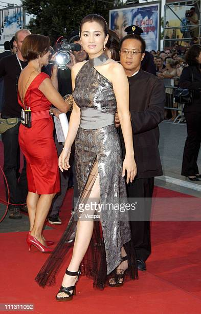 Gong Li during 2002 Venice Film Festival Opening Night 'Frida' Premiere at Palazzo Del Cinema in Venice Lido Italy