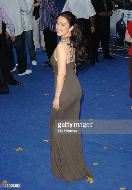 Gong Li during 'Miami Vice' London Premiere Outside Arrivals at Odeon Leicester Square in London Great Britain