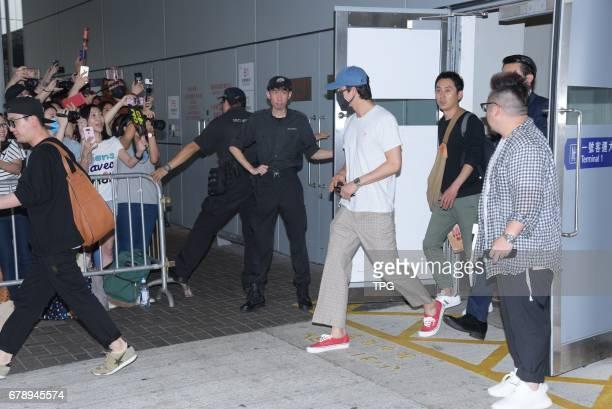 Gong Yoo flies to Hongkong for the coming fans meeting conference on 04th May 2017 in Hongkong China