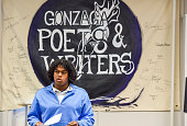 Gonzaga linebacker Kyle Taylor his poetry during a regular poetry slam he hosts at the school on October 22 2015 in Washington DC